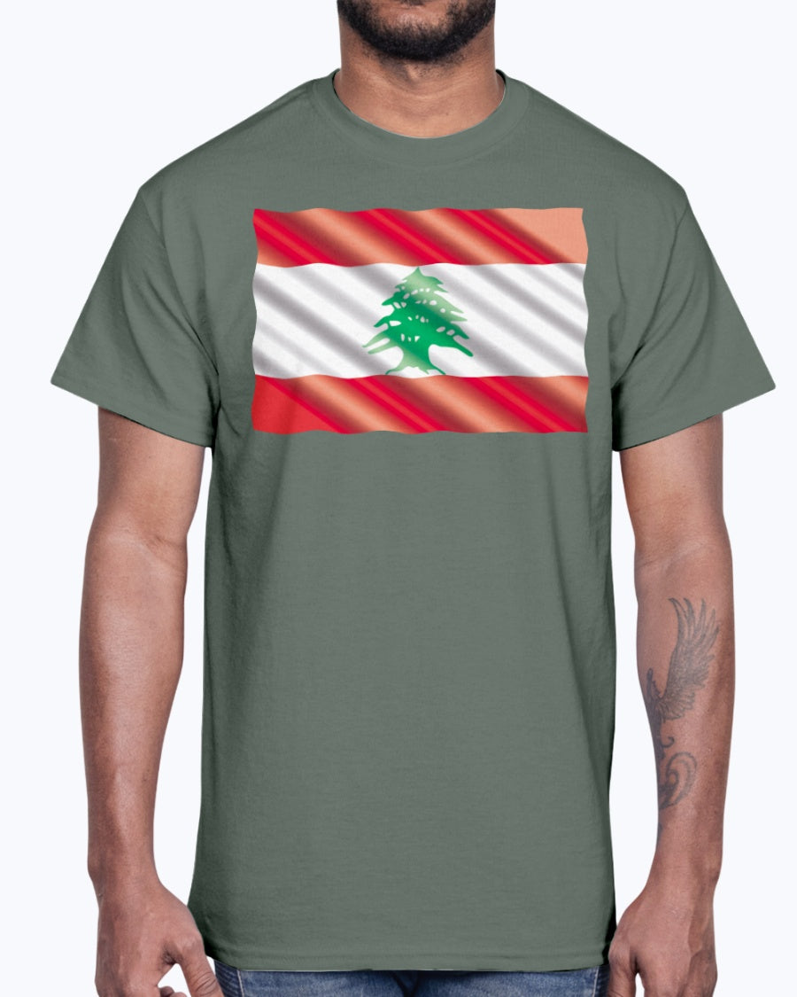 Waving Lebanese Flag Shirt
