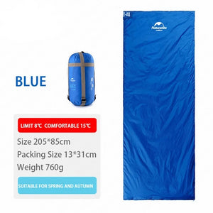 CHENNO 2 Persons Sleeping Bag Envelope Type Splicing Portable Outdoor Ultralight Sleeping Bag Spring Autumn Camping Hiking