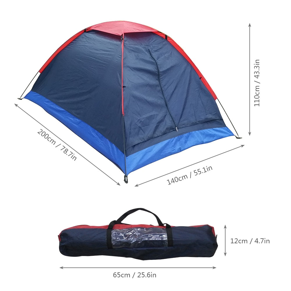 CHENNO Camping Tent Travel For 2 Person Tent for Winter Fishing Tents Outdoor Camping Hiking with Carrying Bag 200x140x110cm