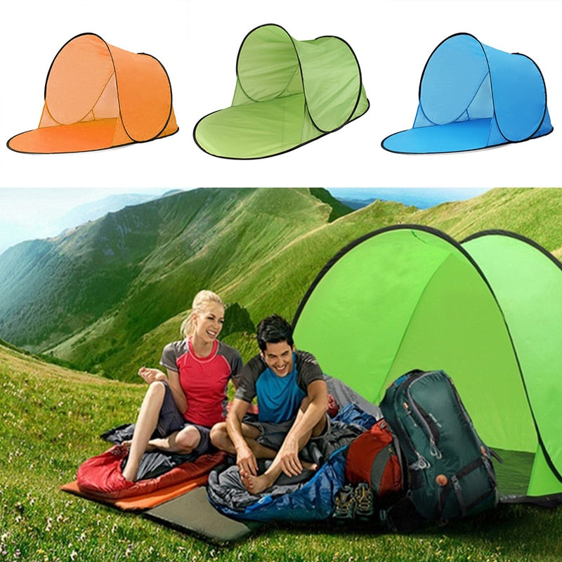 CHENNO Camping Tent Pop Up Tent Sun Shelters Polyester UV Protection Summer Camping Hiking Garden Water Sea Travel Beach Outdoor