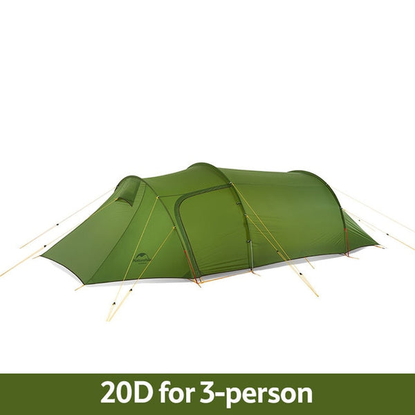 CHENNO Ultralight Opalus Tunnel Tent for 2~4 Persons 20D/210T Fabric Camping Tent with Free Footprint
