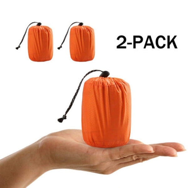 CHENNO 2 Pcs Outdoor Emergency Sleeping Bag Thermal Survival Camping Travel Bags Waterproof Winter Autumn Picnic Pad Anti-cold
