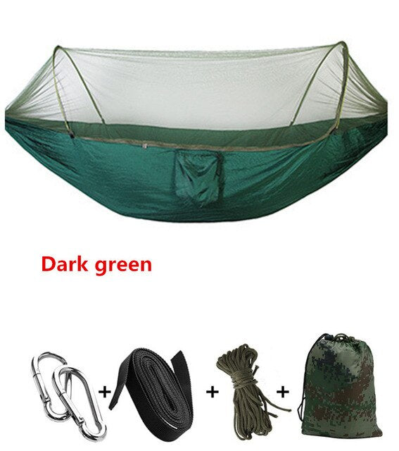 CHENNO Ultralight Netting Hammock Automatic Unfolding Hunting Mosquito Protection Double Lifting Outdoor Furniture Hammock 250X120CM