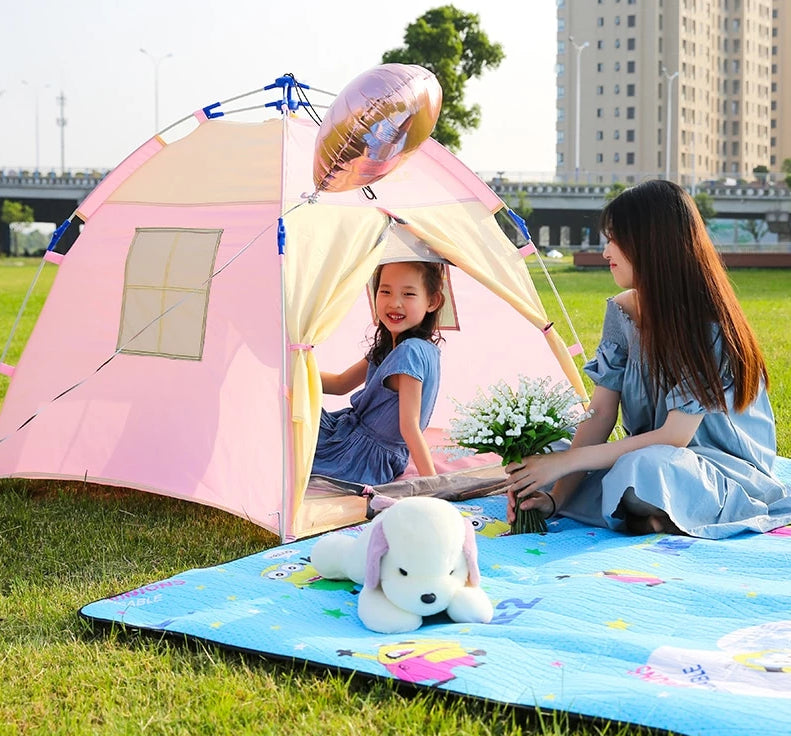 CHENNO Portable Children's Tent Indoor Castle Play House For Kids Outdoor Camping Waterproof Automatic Pop Up Tent