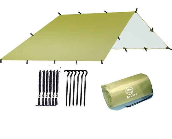 CHENNO Ultralight Tarp Outdoor Camping Survival Sun Shelter Shade Awning Silver Coating Pergola Waterproof Beach Tent