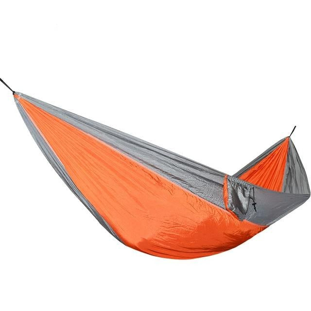 CHENNO Equipped Outdoors 1-Person High-Thread-Count Parachute Hammock with Ropes and Carabiners - Camping Hammock
