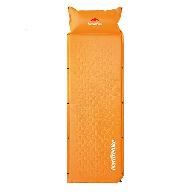 CHENNO Sleeping Mattress Self-Inflating Pad Portable Bed with Pillow Camping Mat Single Person Foldable