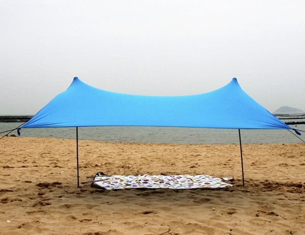 CHENNO HOT Sea Beach CampingTent tarp Sunshade inflatable Shelter canopy Sand Anchor Carry Bag Canopy Rain Protect Portable 2 Pole