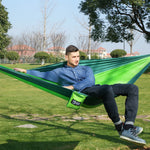 Load image into Gallery viewer, CHENNO Outdoor double Hammock Portable Parachute Cloth 2 Person hamaca hamak rede Garden hanging chair sleeping travel swing hamac