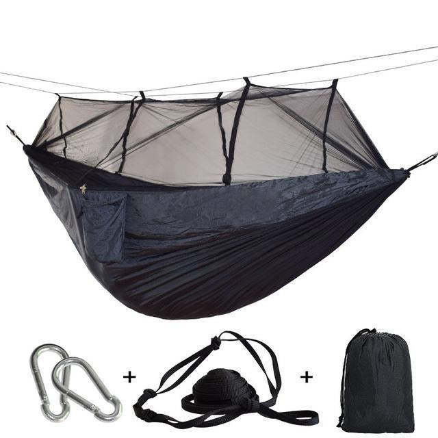 CHENNO Parachute Fabric Mosquito Net Sleeping Hammock 2 Person Anti-Mosquito Bites Sleeping Bed Outdoor Camping Hunting Hammock