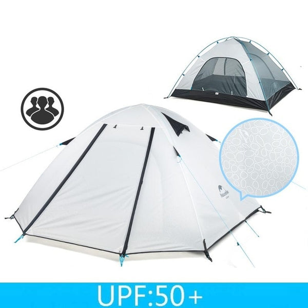 CHENNO P Series Classic Camping Tent 210T Fabric For 3-4 Persons UPF 50+