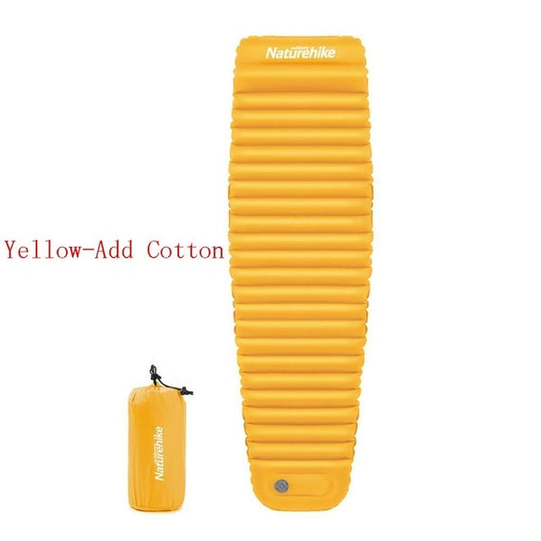 CHENNO Outdoor Push Inflatable Camping Mat Tent Outdoor Waterproof Sleeping Pad Picnic Folding Mummy Mattress