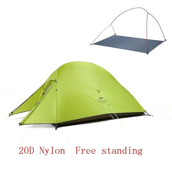 CHENNO Upgraded Cloud Up 2 Ultralight Tent Free Standing 20D Fabric Camping Tents For 2 Person With free Mat