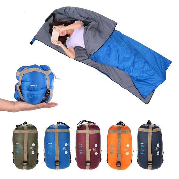 CHENNO 190 * 75cm Outdoor Envelope Sleeping Bag Camping Travel Hiking Ultra-light Sleeping Bag Travel Bag Hiking LW180 680g