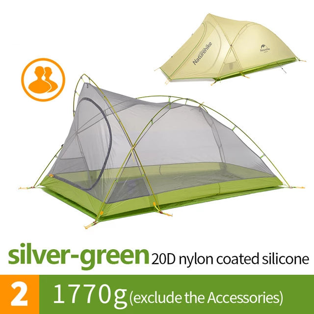 CHENNO Cirrus Ultralight Tent 2 Person 20D Nylon with Silicon Coated Camping Tent with free Mat