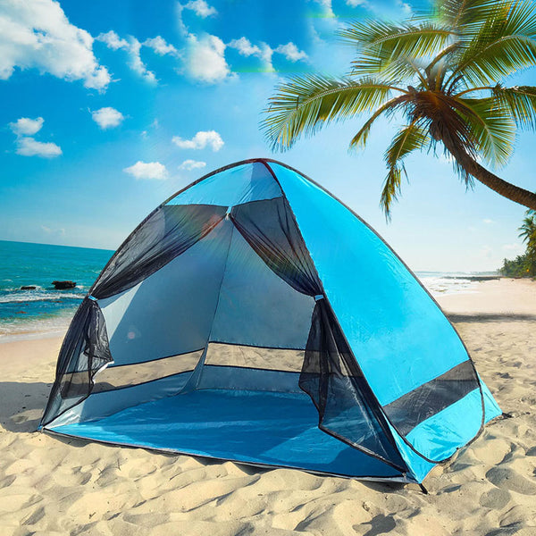 CHENNO Anti-mosquito beach shade tent with gauze UV protection Automatically camping outdoor portable beach tent with mesh curtain