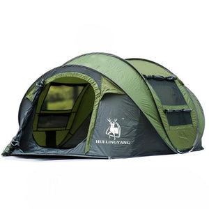 CHENNO outdoor 3-4persons automatic speed open throwing pop up windproof waterproof beach camping tent large space