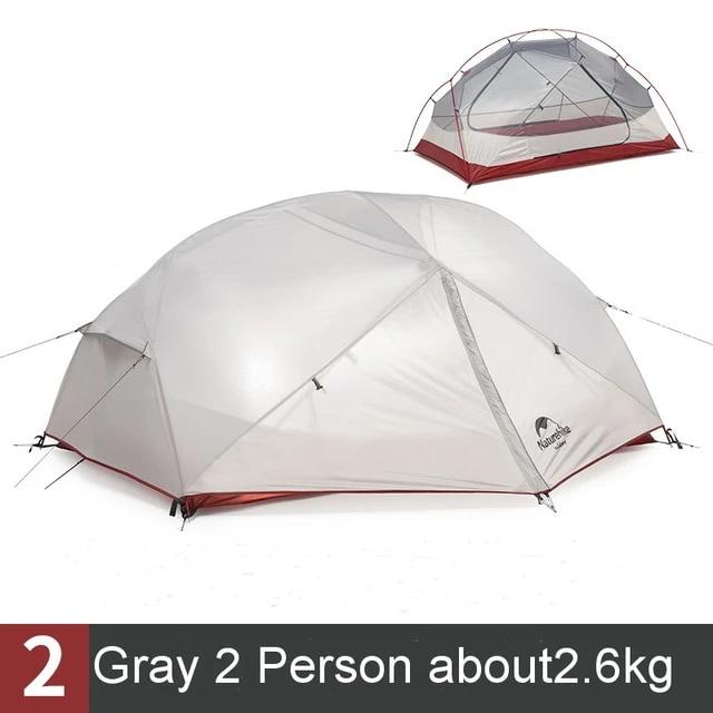 CHENNO 2-3 Person Waterproof Double Layer Outdoor Tent Aluminum Rod Gray Ultralight Camping Tents Mat e-EMS