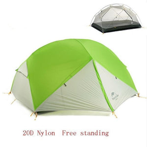 CHENNO 3 Season Mongar Camping Tent 20D Nylon Fabic Double Layer Waterproof Tent for 2 Persons