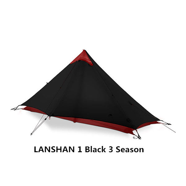 CHENNO 2 People Oudoor Ultralight Camping Tent 3/4 Season 1 Single 15D Nylon Silicon Coating Rodless Tent