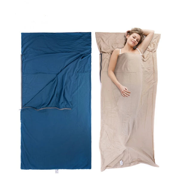 CHENNO Splicing Envelope Sleeping Bag Liner Cotton Ultralight Portable