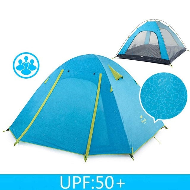 CHENNO P Series Classic Camping Tent 210T Fabric For 4 Persons UPF 50+