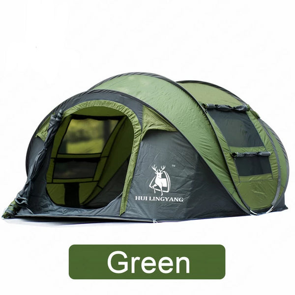 CHENNO camping tent Large space3-4persons automatic speed open throwing pop up windproof camping family tent