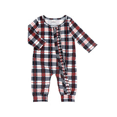 Load image into Gallery viewer, Girls' Plaid Ruffled Lounger