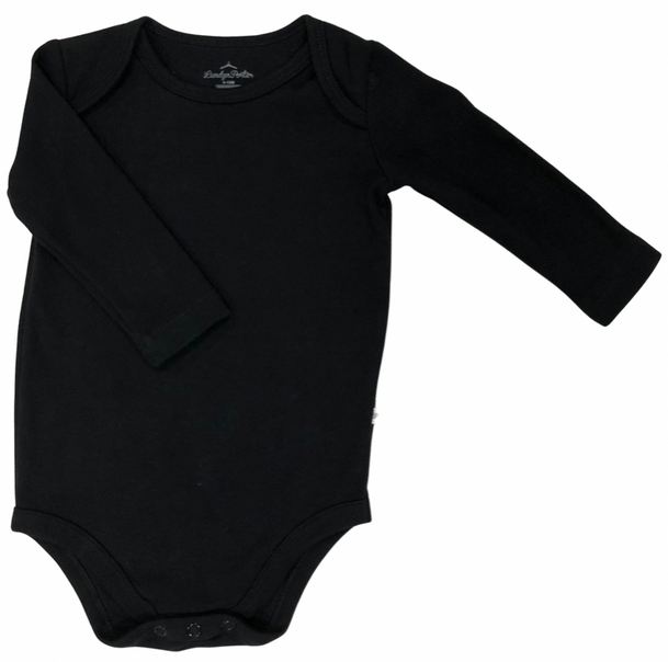 Organic Cotton Black Bodysuit
