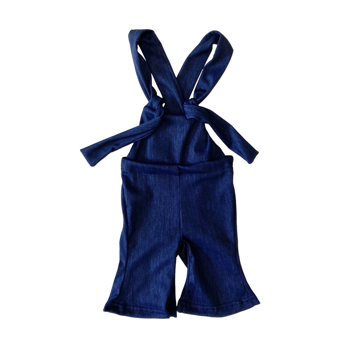 Girls' Denim Bell Bottom Overall