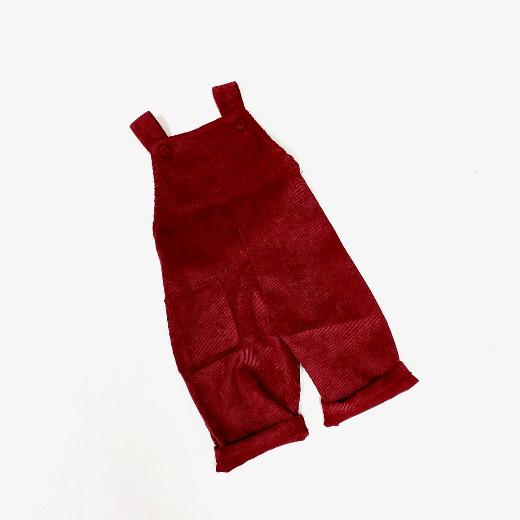 Boys' Red Corduroy Overalls