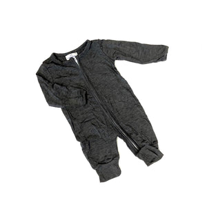Charcoal Bamboo Zip-Up Lounger