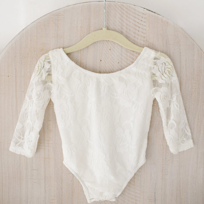 White Lace Leotard