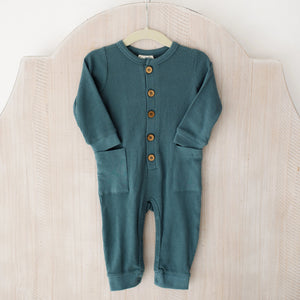 City Mouse Blue Romper with Pockets