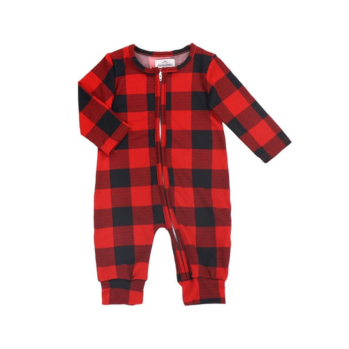 Boys' Buffalo Plaid Zip Up Lounger