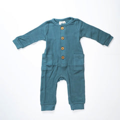 Load image into Gallery viewer, City Mouse Blue Romper with Pockets