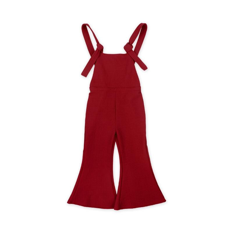 Red Bell-Bottom Jumpsuit