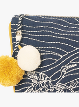 Load image into Gallery viewer, Embroidered Clutch with Pom-Pom Tassel