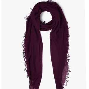Merlot Cashmere and Silk Scarf
