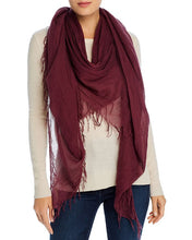 Load image into Gallery viewer, Merlot Cashmere and Silk Scarf