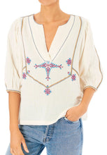 Load image into Gallery viewer, Vivien Top Embroidered Cotton Top