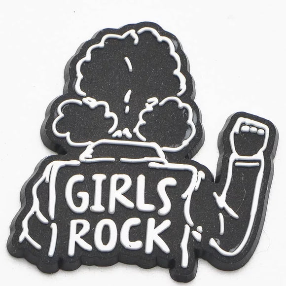 Girls Rock Croc Charm