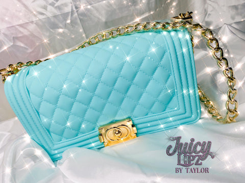 Teal Jelly Purse