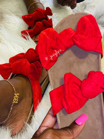 Red Bow Sandals