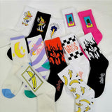 'Moon, Banana, Cactus...' Patterned Socks