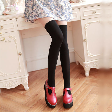 'Heart of Doubt' Thigh High Socks