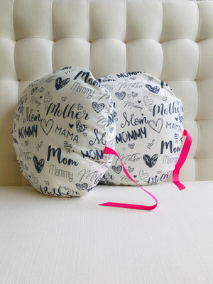 Close To Mom Pregnancy and Nursing Pillow - Mama Print