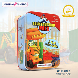 Winning Fingers Construction Race Family Card Game