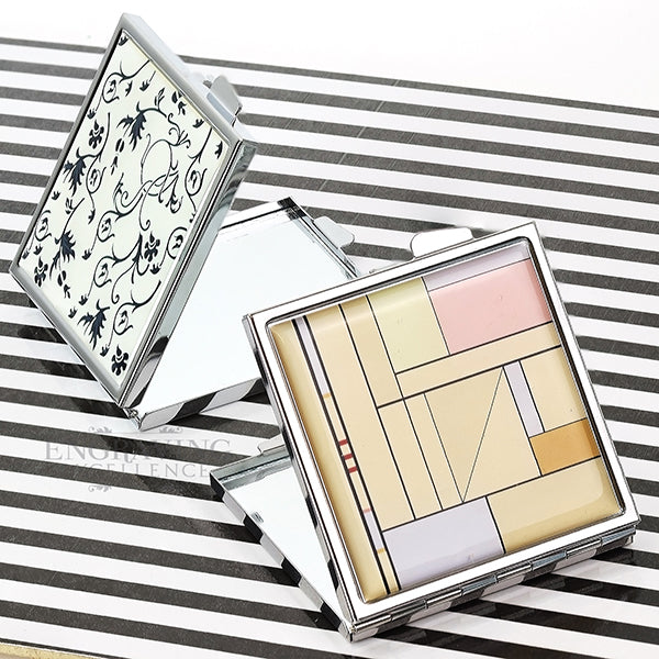 Patterned Compact Mirrors, Engraving Excellence