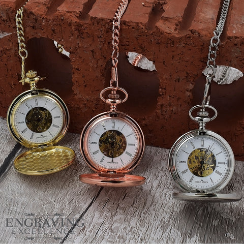 Engraved Pocket Watches, Personalised Gifts, Engraving Excellence
